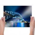 Bridge Night Sydney Australia Tv Movie Art Poster 24x18 inch
