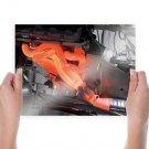 V 8 Engine Header Hot Tv Movie Art Poster 24x18 inch