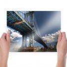 New York Buildings Skyscrapers Bridge Tv Movie Art Poster 24x18 inch