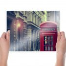 Telephone Booth Uk Light Buildings Tv Movie Art Poster 24x18 inch