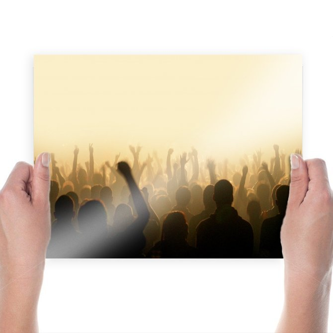 Crowd Group Concert Tv Movie Art Poster 24x18 inch