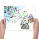Colorful Notes Speaker Tv Movie Art Poster 24x18 inch