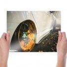 Wheel Slammed Leaves Autumn Tv Movie Art Poster 24x18 inch