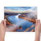 Portugal River Buildings Tv Movie Art Poster 24x18 inch