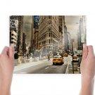 New York Buildings Skyscrapers Street Tv Movie Art Poster 24x18 inch