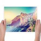 Italy Riviera Buildings Coast Ocean Boats Sunlight Cliff Tv Movie Art Poster 24x18 inch