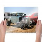 Hot Rod Classic Car Classic Rat Rod Engine Tv Movie Art Poster 24x18 inch