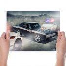 Classic Car Classic Dodge Charger Police Tv Movie Art Poster 24x18 inch