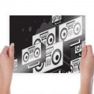 Boombox Stereo Tv Movie Art Poster 24x18 inch