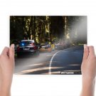Bugatti Veyron Police Trees Forest Need For Speed Tv Movie Art Poster 24x18 inch