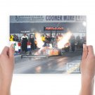 Top Fuel Drag Race Fire Flame Launch Dig Tv Movie Art Poster 24x18 inch