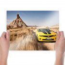 Chevrolet Camaro Motion Blur Desert Tv Movie Art Poster 24x18 inch