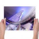 Building Skyscraper Purple Bridge Tv Movie Art Poster 24x18 inch