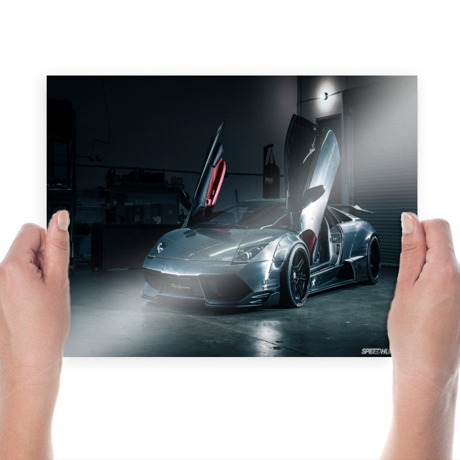 Lamborghini Murcielago Sv Garage Metal Tv Movie Art Poster 24x18 inch