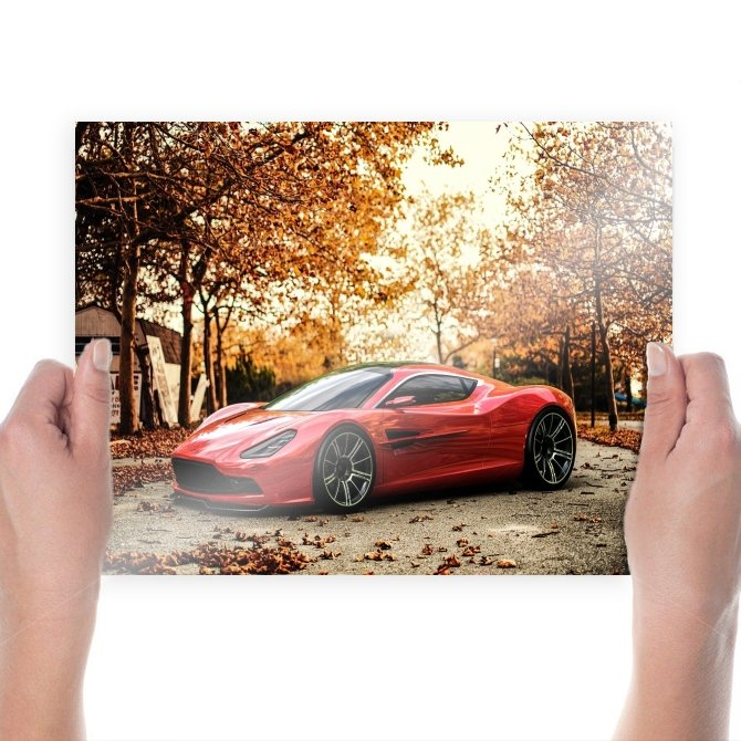 Aston Martin Concept Trees Autumn Tv Movie Art Poster 24x18 inch