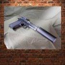 Handgun Silencer Tv Movie Art Poster 32x24 inch