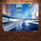 Buildings Skyscrapers Street Timelapse Tv Movie Art Poster 32x24 inch