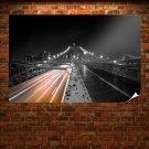 Bridge Timelapse Colorsplash Tv Movie Art Poster 36x24 inch