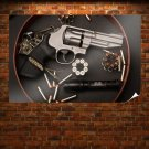 Revolver Bullets Ammunition Tv Movie Art Poster 36x24 inch