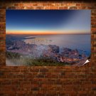 Monaco Coast Buildings Sunset Ocean Tv Movie Art Poster 36x24 inch