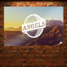 Los Angeles Mountains Hollywood La Tv Movie Art Poster 36x24 inch