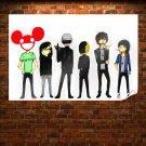 Deadmau5 Skrillex Daft Punk White Justice Steve Aoki Tv Movie Art Poster 36x24 inch