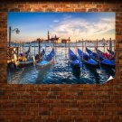Venice Buildings Boats Ocean Tv Movie Art Poster 36x24 inch