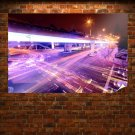 Street Timelapse Purple Light Night Tv Movie Art Poster 36x24 inch