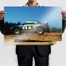 Subaru Wrx Sti Jump Rally Motion Blur Tv Movie Art Poster 36x24 inch