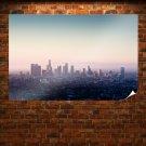 Los Angeles La Buildings Skyscrapers Tv Movie Art Poster 36x24 inch
