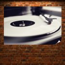 Record Record Player Macro Tv Movie Art Poster 36x24 inch