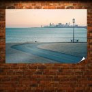 Ocean Chicago Buildings Skyscrapers Road Path Trail Tv Movie Art Poster 36x24 inch