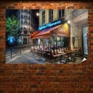 Hdr Buildings Cafe Restaurant Tv Movie Art Poster 36x24 inch