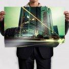 Buildings Skyscrapers Timelapse Street Lights Tv Movie Art Poster 36x24 inch
