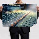 Mixing Board Mixer Macro Knobs Tv Movie Art Poster 36x24 inch