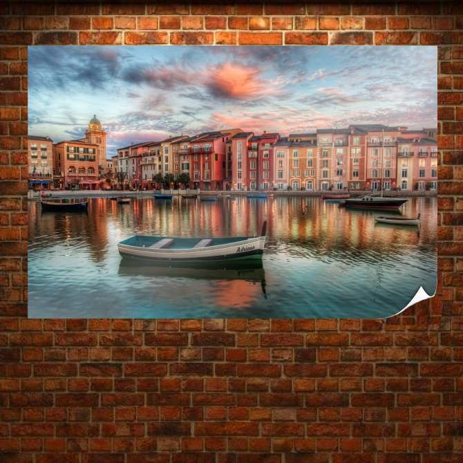 Hdr Tv Movie Art Poster 36x24 inch