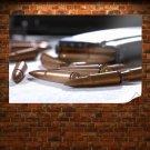 Ammunition Bullets Macro Tv Movie Art Poster 36x24 inch