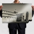 Leaning Tower Of Pisa Italy Buildings Tv Movie Art Poster 36x24 inch