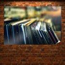 Records Macro Blur Tv Movie Art Poster 36x24 inch