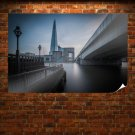 London Buildings Bridge River The Shard Thames Tv Movie Art Poster 36x24 inch