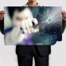 Handgun Glass Broken Cracked Tv Movie Art Poster 36x24 inch