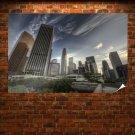 Los Angeles La Buildings Skyscrapers Hdr Tv Movie Art Poster 36x24 inch