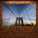 Brooklyn Bridge Bridge Cables New York Buildings Tv Movie Art Poster 36x24 inch