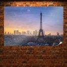 Eiffel Tower Paris Buildings Tv Movie Art Poster 36x24 inch