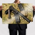 Handgun Camouflage Silencer Tv Movie Art Poster 36x24 inch