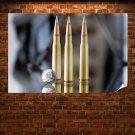 Quarter Bullets Ammunition Tv Movie Art Poster 36x24 inch