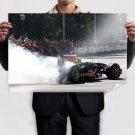 F1 Formula One Burnout Smoke Tv Movie Art Poster 36x24 inch