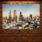 Buildings Skyscrapers London Tv Movie Art Poster 36x24 inch