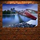 Buildings Bridge River Tv Movie Art Poster 36x24 inch