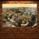 Aerial View Birds Eye Birds Eye View Kiev Ukraine Kiyv Tv Movie Art Poster 36x24 inch